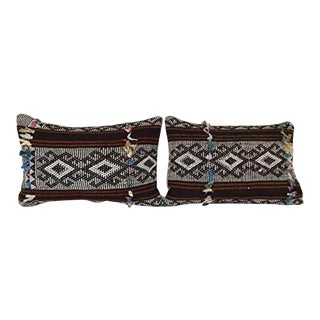 Set of 2 Turkish Kilim Pillow Cover, Vintage Cushion Cover Tribal Pillows Sofa Art, Traditional Kilim Style Cushion Set 14'' X 20'' (35 X 50 Cm) For Sale