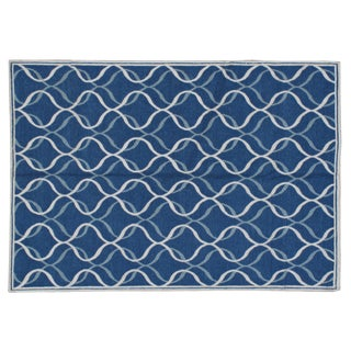 Stark Studio Contemporary Linen Soumak Linen Rug - 6′1″ × 8′11″ For Sale