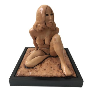 J. Leach Nude Sculpture of Woman For Sale