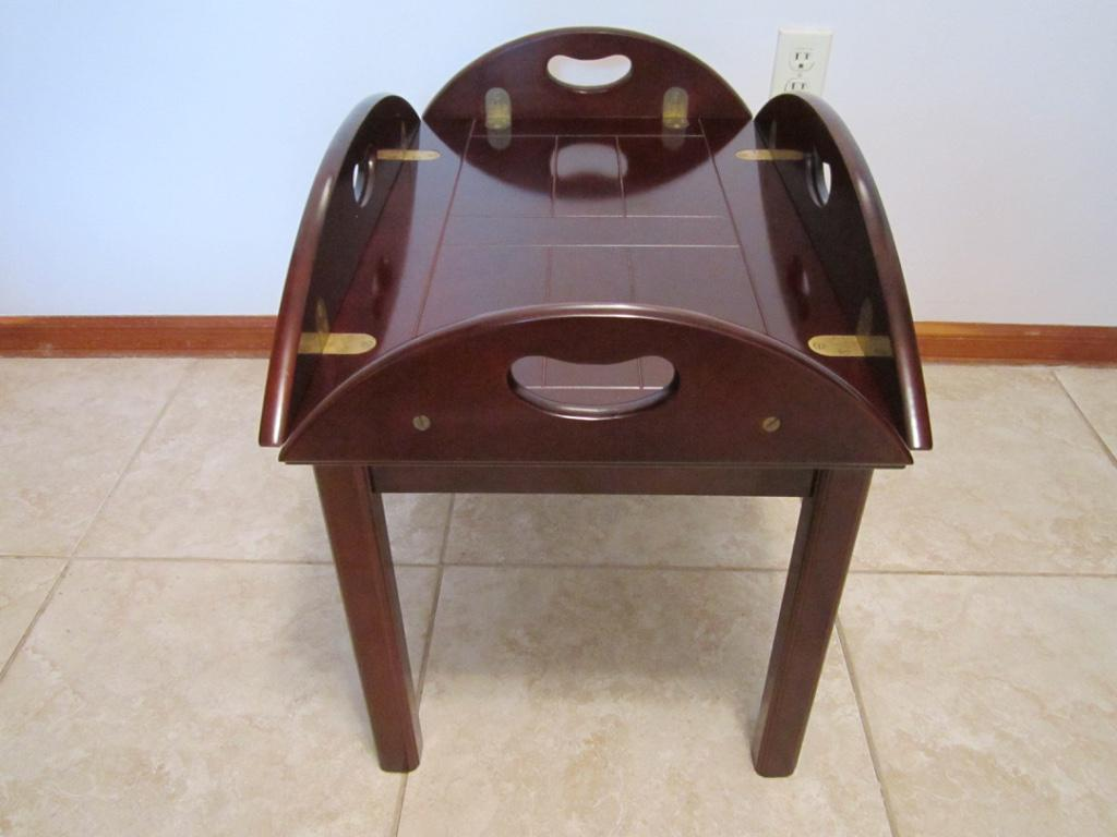 Wood Butler Tray Table For Sale   Image 4 Of 11