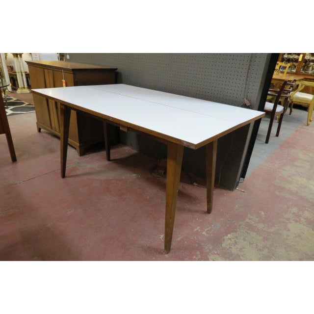 Vintage Mid Century Modern Convertible Dining Table Chairish