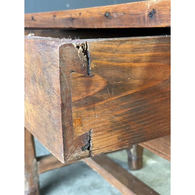 1800's Primitive French Dining/Work Table/Console For Sale - Image 9 of 13
