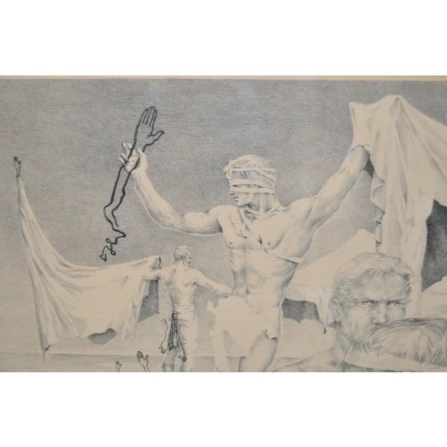 John B. Lear John B. Lear Surreal Male Lithograph C.1940s For Sale - Image 4 of 8