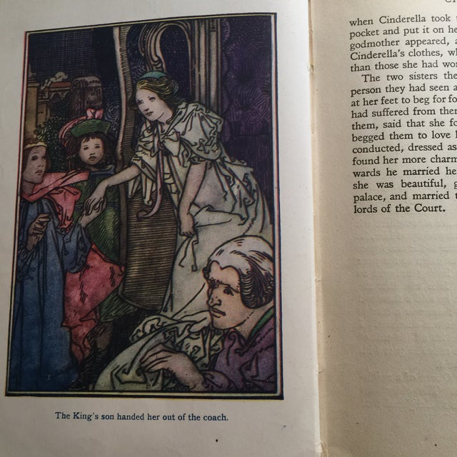 Blue Perrault's Fairy Tales Book, C. 1913 For Sale - Image 8 of 10