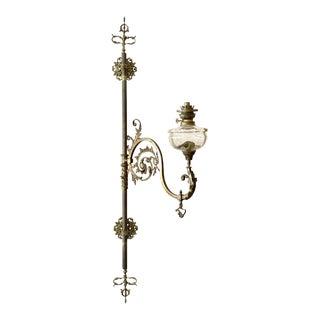 Early 19th Century Napoleon III Brass Wall Mounted Swing Arm Kerosene/Oil Sconce For Sale