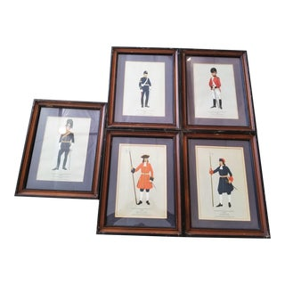 British Soldiers Framed Prints by p.h. Smitherman - Set of 5