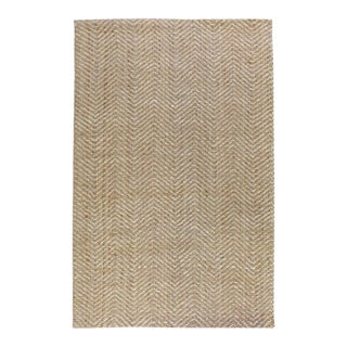 Zig Zag Natural/Bleach Rug - 8 X 10 For Sale