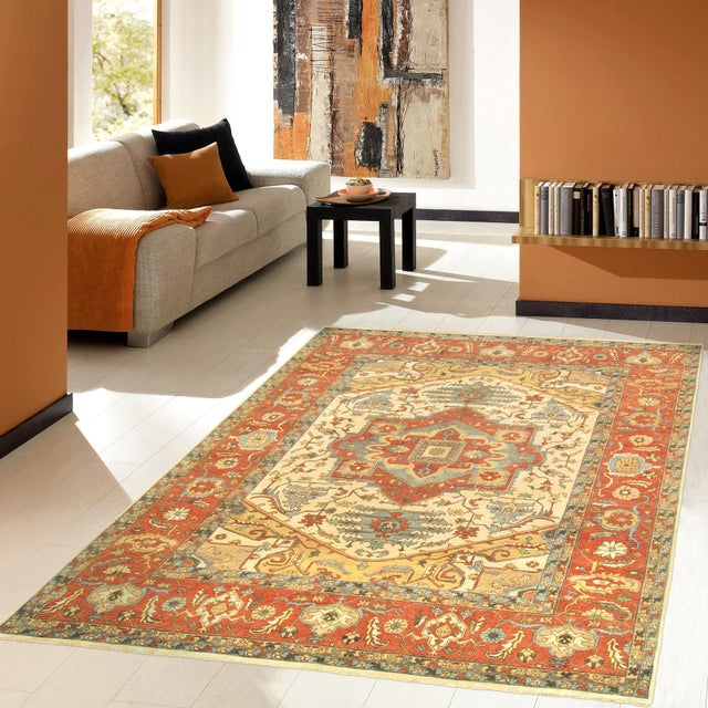 "Modern Pasargad Turkish Serapi Collection Wool Area Rug- 8' 1"" X 10' 1"" For Sale - Image 4 of 5"