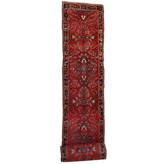1910s Antique Persian Lilihan Hand Made Runner- 2′8″ × 23′3″ For Sale