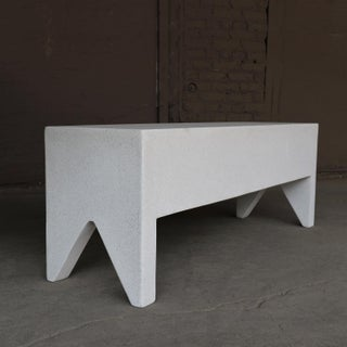 Cast Resin 'Farm' Bench, White Stone Finish by Zachary A. Design Preview