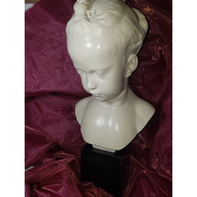 "Mid-Century Modern 1978 Austin Production Inc. ""Bust of a Little Girl"" - Slay Reproduction Sculpture For Sale - Image 3 of 7"