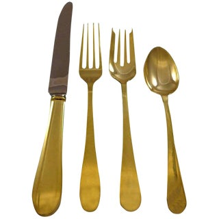 Salem Gold by Tiffany and Co. Sterling Silver Flatware Set for 6 Service Vermeil For Sale