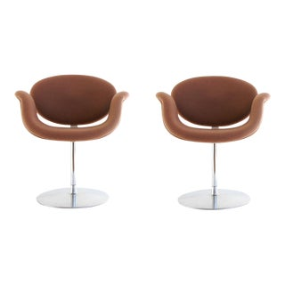 "Pierre Paulin Mid Century Modern ""Tulip F545"" Artifort Space Age Chairs- a Pair For Sale"