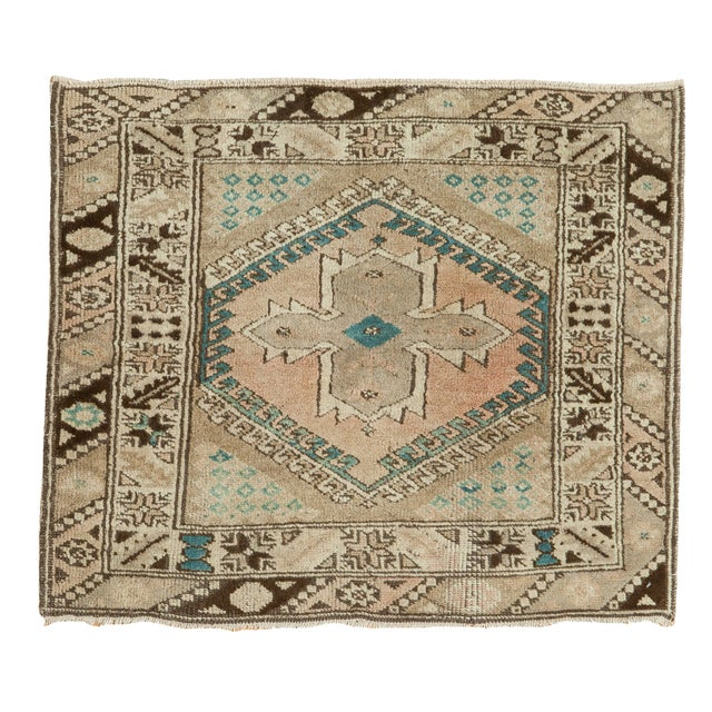 Vintage Oushak Square Rug - 2′9″ × 3′2″ - Image 1 of 8