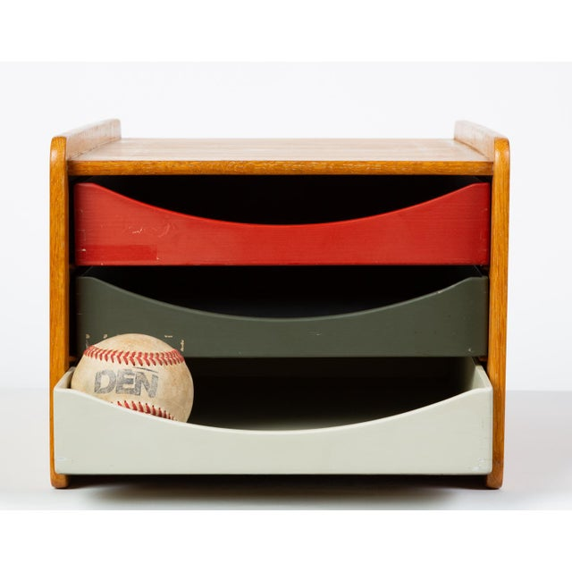 Danish-designed, Swedish-made desk organizer by Børge Mogensen for Karl Andersson & Söner from the late 1950s or early...