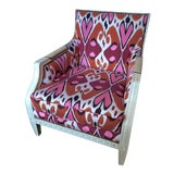 Image of Ikat Upholstered Oly Studio Tobias Chair Set For Sale