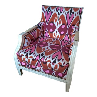 Ikat Upholstered Oly Studio Tobias Chair Set For Sale