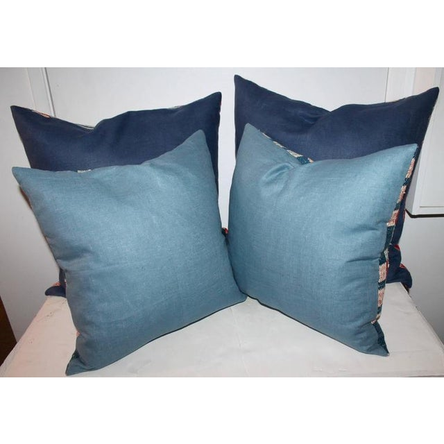 These amazing and pristine condition coverlet pillows are made from a hand woven coverlet from Pennsylvania. There are two...