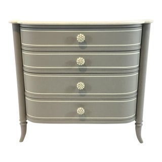 Modern Caracole Gray Mademoiselle Nightstand For Sale