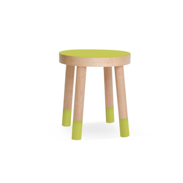 Nico & Yeye Poco Kids Chair in Maple With Green Finish For Sale - Image 4 of 4