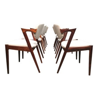 Kai Kristiansen Model 42 Dining Chairs in Rosewood - Set of 8 For Sale
