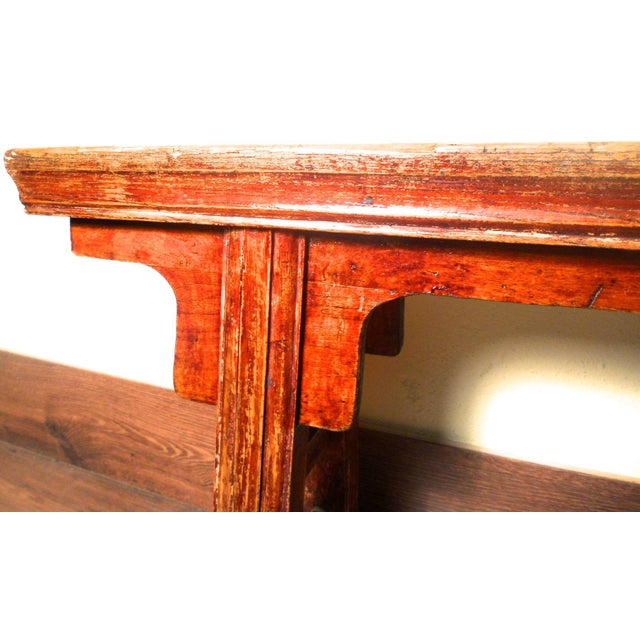 Antique Chinese Ming Long Bench - Image 3 of 10