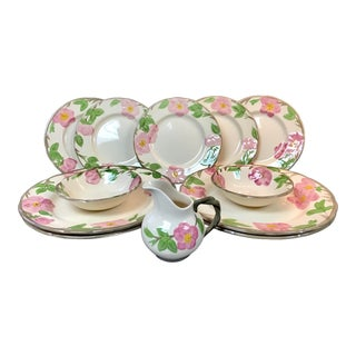 Franciscan Desert Rose China Dinnerware - 12 Pieces For Sale
