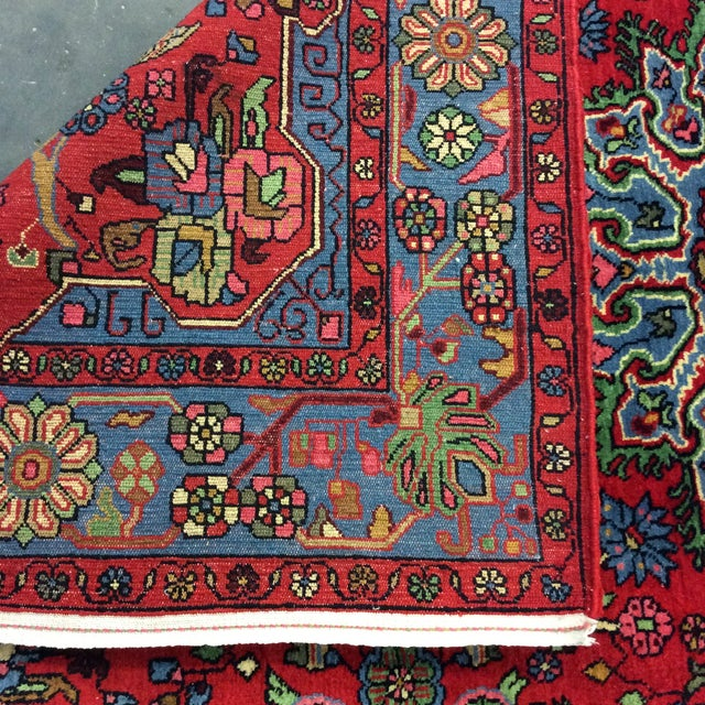 1980s Vintage Nahavand Persian Rug - 5′2″ × 8′ For Sale - Image 4 of 5
