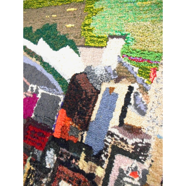 1960s Hand Woven Heinz Pittsburgh Pennsylvania Tapestry Fibre Art Wall Hanging For Sale - Image 11 of 12