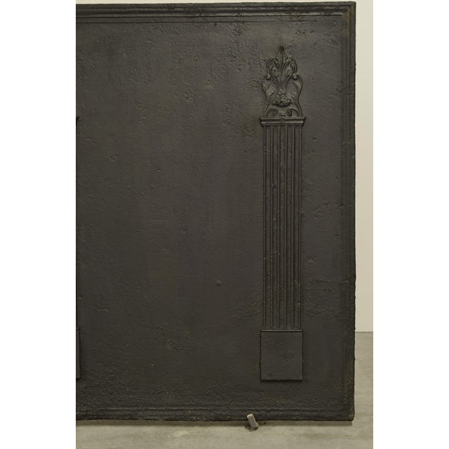 Louis XVI Fireback With Two Large Pillars For Sale - Image 3 of 5