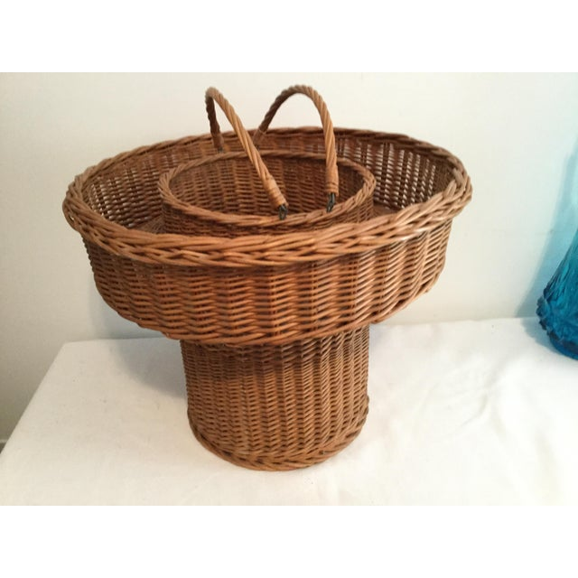 Basket With a Wooden Bottom For Sale - Image 12 of 12
