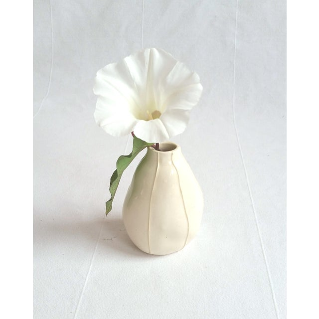 Clay Contemporary White Bud Vases - Set of 3 For Sale - Image 7 of 9
