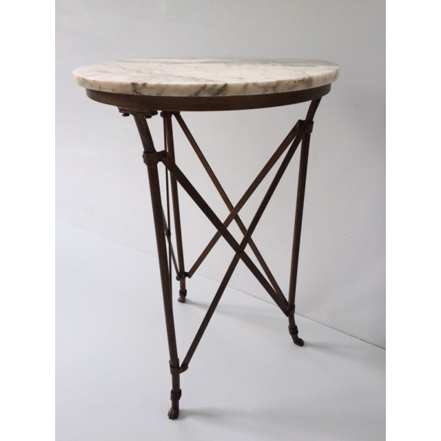 French Directoire Gueridon Table With Marble Top - Image 5 of 9