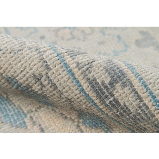 """Erin Gates Concord Lowell Ivory Hand Knotted Wool Area Rug 7'9"""" X 9'9"""" For Sale - Image 4 of 7"""