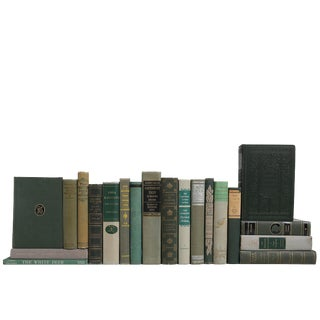 World Classic Vintage Books in Grey & Green - Set of 20