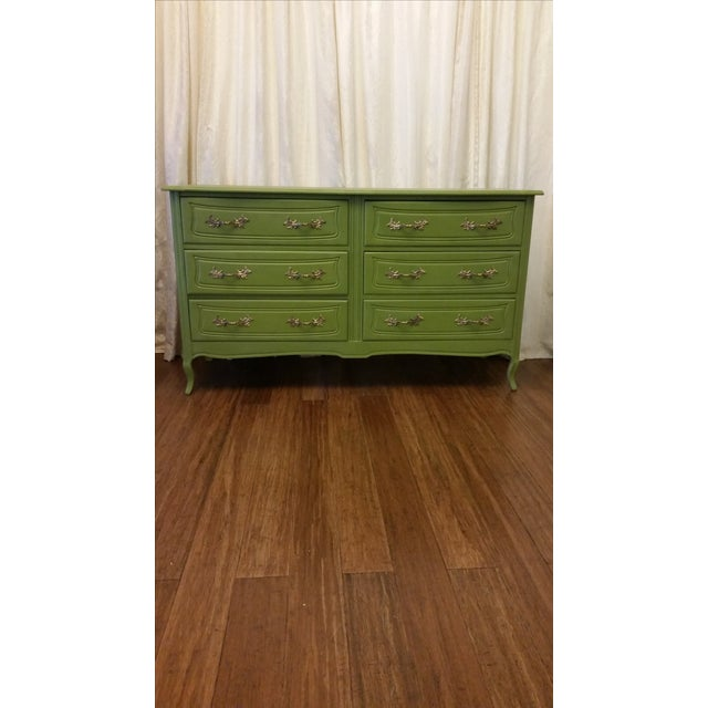 Green French Provincial Dresser - Image 3 of 5