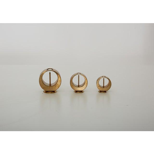 Set of Rare Brass Candlesticks by Artur Pe Kolbäck, Sweden, 1950s For Sale - Image 6 of 6