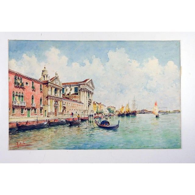 Venice Watercolor Painting by Rafael Senet For Sale - Image 4 of 5