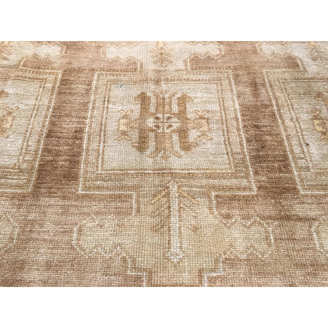 "Bellwether Rugs Vintage Turkish Oushak Rug - 6'6""x10'4"" - Image 6 of 7"