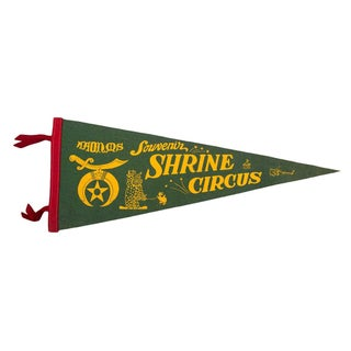 Shrine Circus Souvenir Felt Flag For Sale