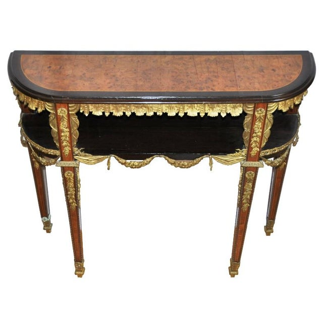 Antique Louis XVI Style Console After Design by Jean-Henri Riesener For Sale - Image 13 of 13