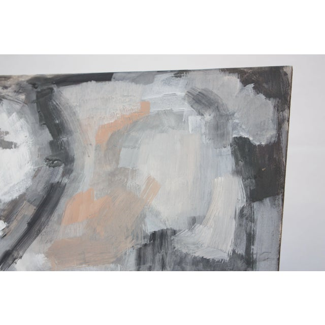 1960s Abstract Oil and Gouache on Board by Elizabeth Nachman Erlanger For Sale - Image 5 of 11