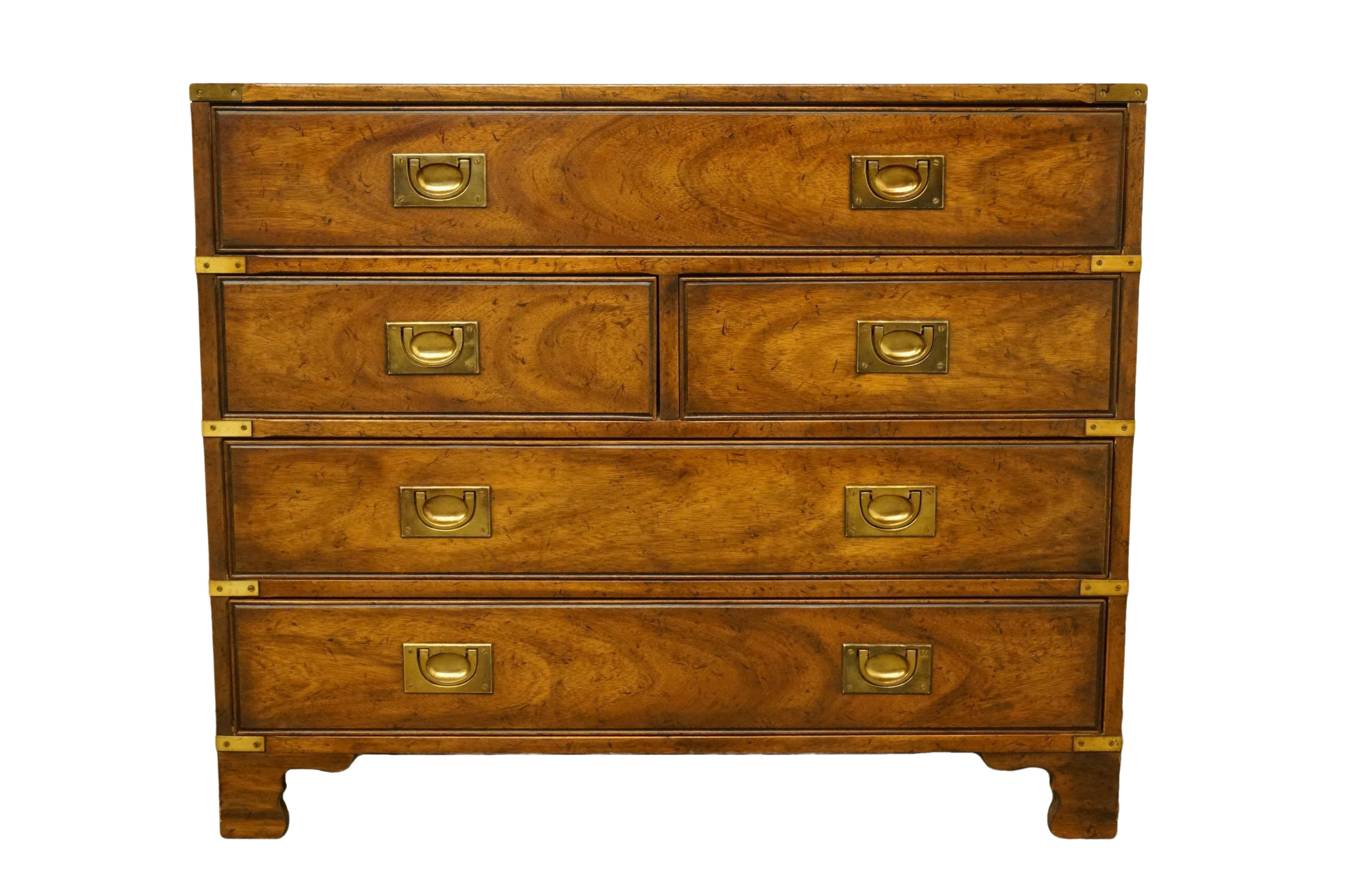 Heritage Asian Inspired Campaign Style Chest Nightstand