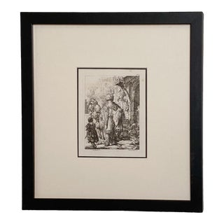 Late 18th Century Rembrandt Etching #10, by Francesco Novelli For Sale