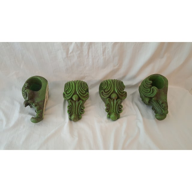 Green Curtain Rod Sconces - 4 - Image 2 of 5