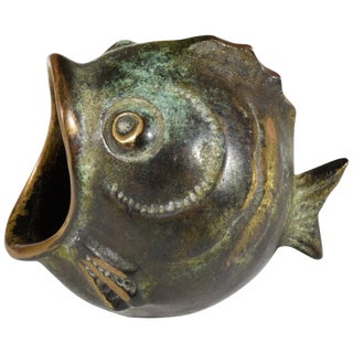 20th Century Vintage Fish Ashtray by Walter Bosse, 1950s For Sale