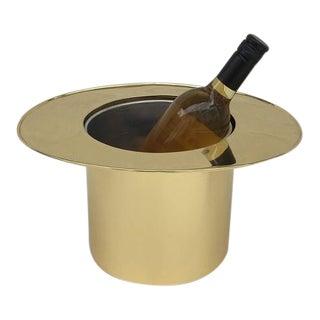 Italian Brass Top Hat Ice Bucket
