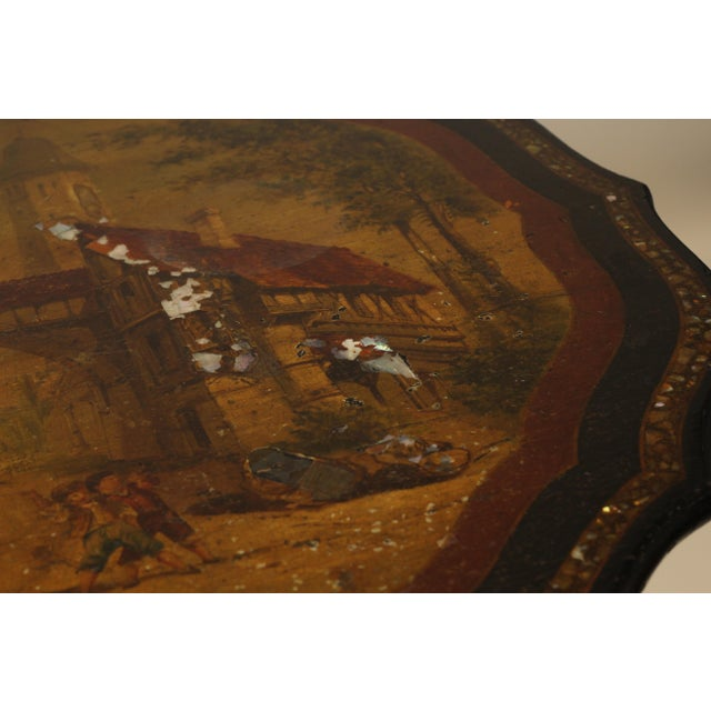 Late 19th Century Papier Mache Side Table For Sale - Image 5 of 12