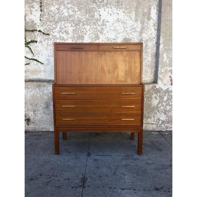 """""""Falsigs"""" Made in Denmark Vintage Teak Desk - Image 7 of 7"""