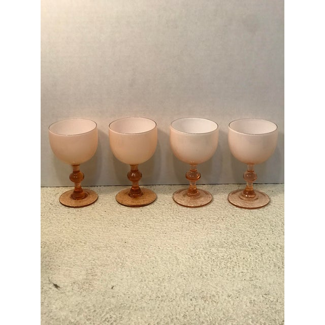 1950s 1950s Carlo Moretti Pink Cased Coupes - Set of 4 For Sale - Image 5 of 5
